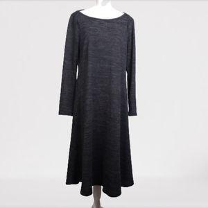 Cable & Gauge long sleeve knit dress dark grey L